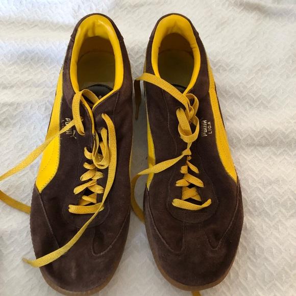 Mens Puma Suede Yellow Sneakers – NikeSaleOnline